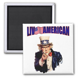 Live American idol Uncle Sam square magnit Magnet