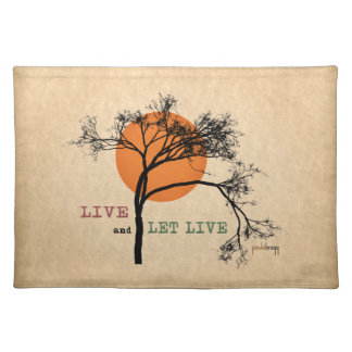 Live and Let Live (Recovery Silhouettes) Placemat