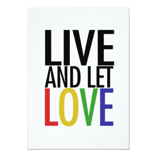 Live and let LOVE Card