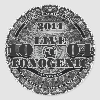 LIVE AT FONOGENIC - Round Sticker