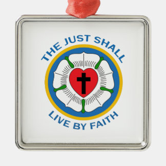 LIVE BY FAITH Silver-Colored SQUARE DECORATION