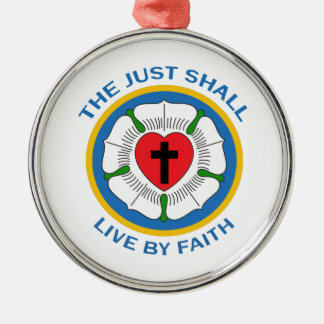 LIVE BY FAITH Silver-Colored ROUND DECORATION