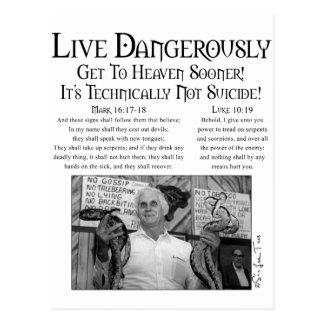 Live Dangerously 2 Postcard