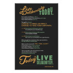 Live Deliberately: A Manifesto Posters