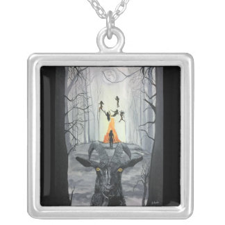 Live Deliciously Silver Plated Necklace