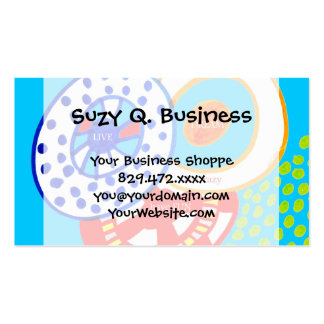 Live Dream Be Crazy Have Fun Colorful Doodle Pack Of Standard Business Cards