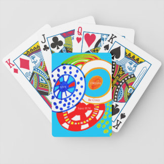Live Dream Be Crazy Have Fun Colorful Doodle Poker Deck