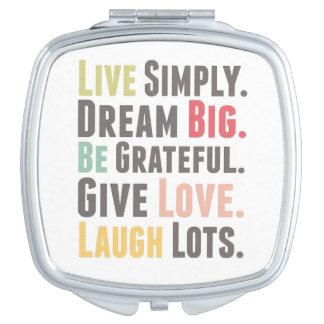 Live, Dream, Love, Laugh Compact Mirror