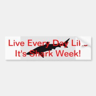Live Everyday Like It's Shark Week Bumper Sticker