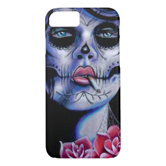 Live Fast Die Young Day of the Dead Portrait iPhone 8/7 Case