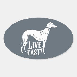 Live Fast Oval Sticker