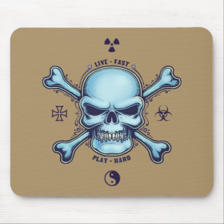 Live Fast, Play Hard Mouse Pad