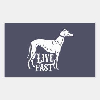 Live Fast Rectangular Sticker