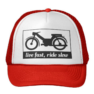 Live Fast, Ride Slow Trucker Hats