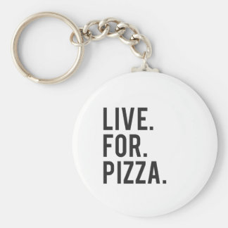 Live for Pizza Print Key Ring