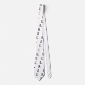 Live for Pizza Print Tie