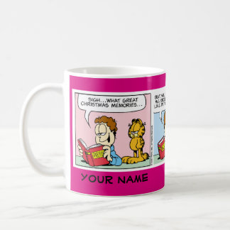 """Live for the Present"" Garfield Comic Strip Mug"