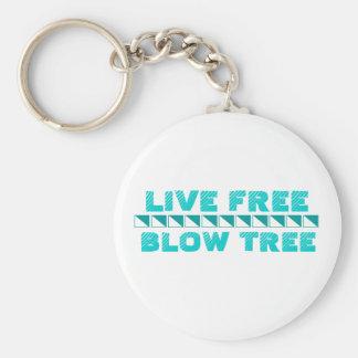Live Free Blow Tree Key Chain