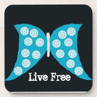 """Live Free Butterfly"" Cork Coaster Coaster"