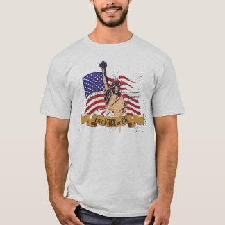 Live Free or Die Liberty American Flag T-Shirt