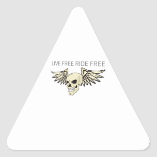 LIVE FREE RIDE FREE TRIANGLE STICKERS