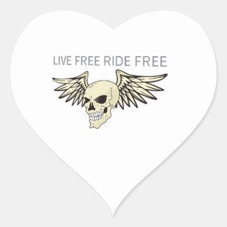 LIVE FREE RIDE FREE HEART STICKER
