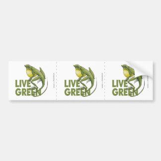Live Green Car Bumper Sticker