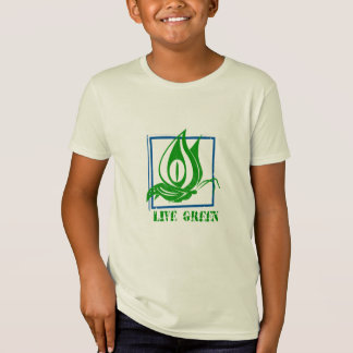 Live Green Butterfly Blue Organic Tshirt