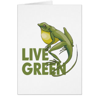 Live Green Greeting Cards