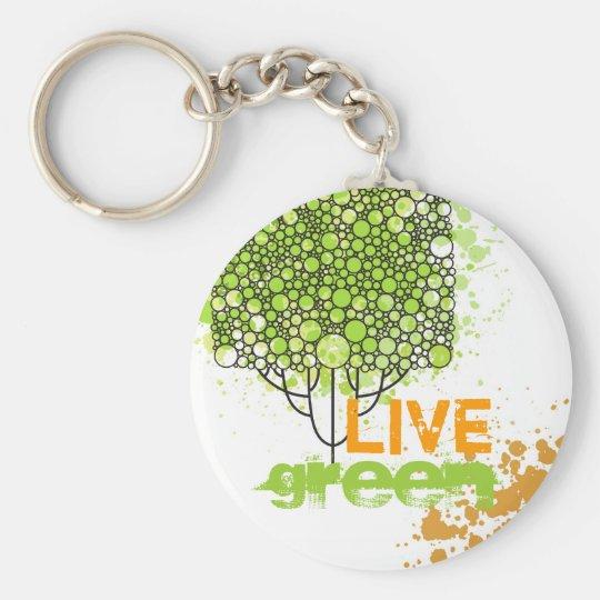 Live Green Key Ring