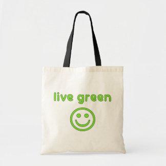 Live Green Pro Environment Eco Friendly Renewable Canvas Bag