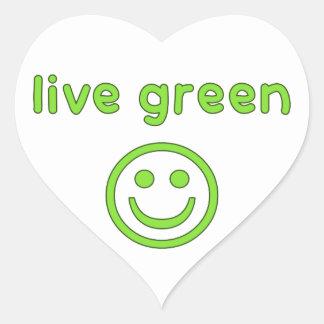 Live Green Pro Environment Eco Friendly Renewable Heart Sticker