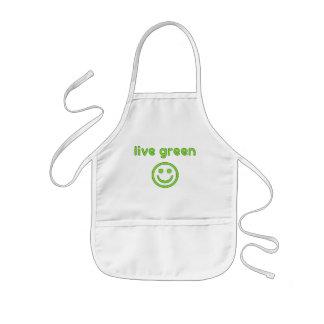 Live Green Pro Environment Eco Friendly Renewable Kids Apron