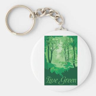 Live Green - Tree Hugger Key Ring