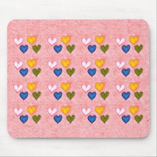 Live hearts mouse pad