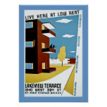 Live Here at Low Rent Poster