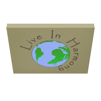 Live in Harmony - Planet Earth Canvas Print