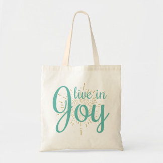 Live in Joy | Tote Reusable Bag