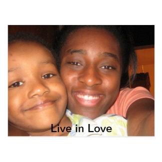 Live in Love Postcard