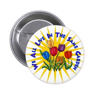 Live In Peace Garden 6 Cm Round Badge