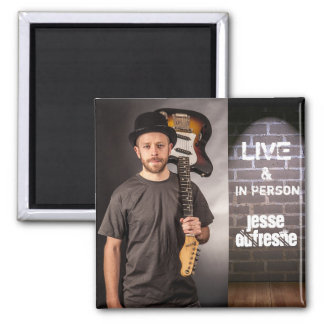 """""""Live & In Person"""" Add Photo & Name Magnet"""