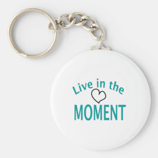 Live in the MOMENT Collection Basic Round Button Key Ring