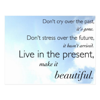 Live in the Present Postcard