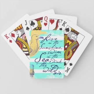Live in the Sunshine Playing Cards