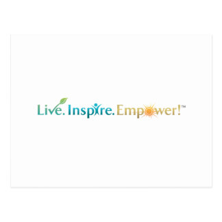 Live. Inspire. Empower! Postcard