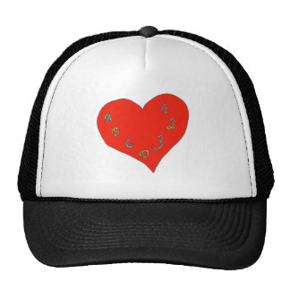 LIVE L SCHOOL HEART ABC123 1 PNG TRUCKER HAT
