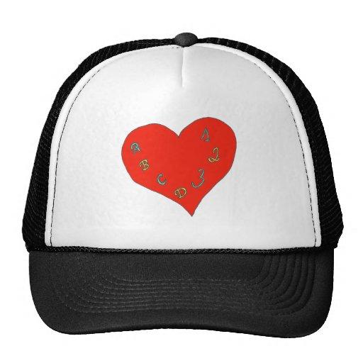 LIVE L SCHOOL HEART ABC123 1.PNG TRUCKER HAT