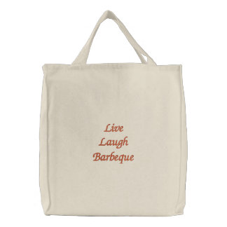 Live Laugh Barbeque Embroidered Bag