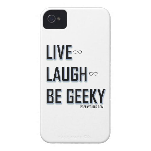 Live, Laugh, Be Geeky (2) Case-Mate iPhone 4 Case