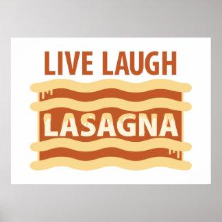 Live Laugh Lasagna Poster